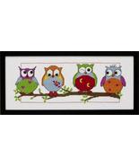 Owl Friends kit counted cross stitch Permin of Copenhagen - $28.80