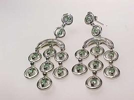Genuine DIAMONDS and PERIDOT Dangle EARRINGS - 1 3/4 inches long - FREE ... - $95.00