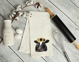Sunflower Cow Kitchen Tea Towel - $18.21