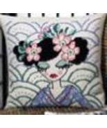 Blue Geisha pillow kit counted cross stitch Permin of Copenhagen - $40.50