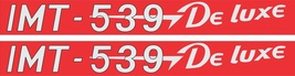IMT 539- Tractor decal set, reproduction - $18.00