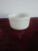 Anchor Hocking Ramekin/Custard Cup/Bowl White Milk Glass Fire-King 1434 - $9.49