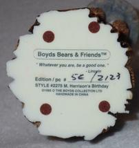Boyd Bearstone 1996 M. Harrison's Birthday Resin Figurine #2275 5E NEW IN BOX image 4