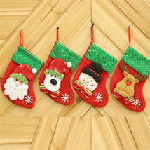 Christmas Stockings Hanging Tree Decoration Ornaments New Year Candy Bag... - $2.49