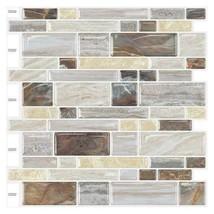 """(Ship from USA) 10 Sheets 12""""x12"""" 3D Vinyl Wallpaper Self Adhesive Stick Subway  image 2"""