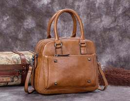 Sale, Genuine Leather Messenger Bag, Shoulder Bag, Satchel Bag image 4