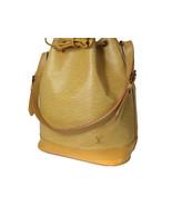 Auth LOUIS VUITTON Noe Epi Leather Yellow Drawstring Shoulder Bag Purse ... - $330.00