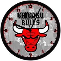"Chicago Bulls LOGO Homemade 8"" NBA Wall Clock w/ Battery Included - $23.97"