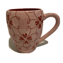 Starbucks Raised Hearts Valentines Day Mug in Pink and Red - $17.79