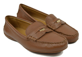 8009 Coach New York Womens Browmn Q8785 Pebbled Leather Penny Loafers 7 M $195 - $127.40