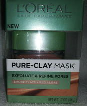 L'Oreal Pure Clay Mask Exfoliate & Refine 3 Pure Clays + Red Algea~1.7 O... - €11,15 EUR