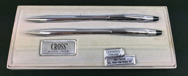 "Cross Chrome Set Pen & Mechanical Pencil Advertising inscribed ""Bethany... - $34.60"