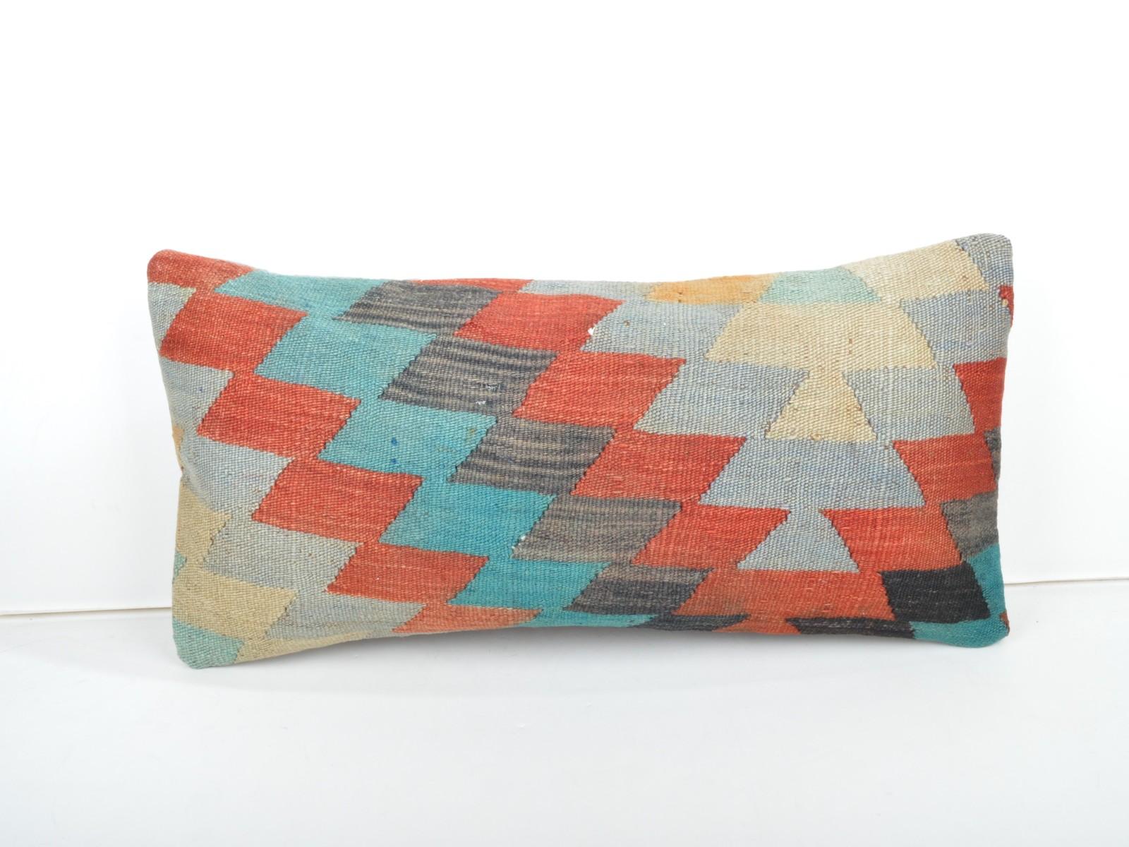 kilim pillow,lumbar kilim pillow,lumbar cushion,kilim cushion,pillow case,30x60  - $39.00