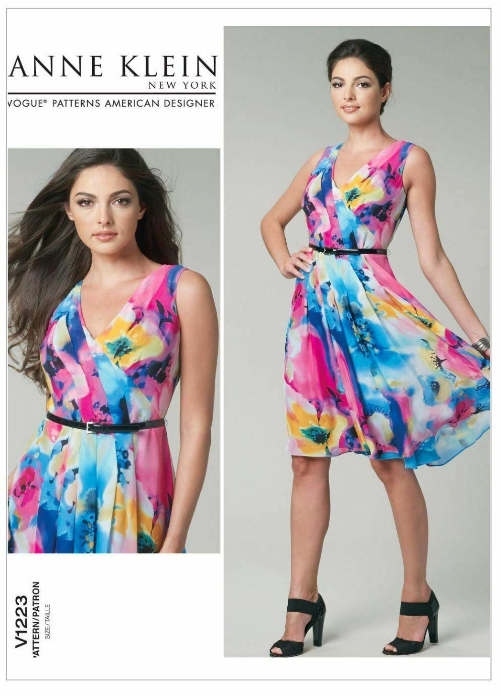 Vogue Patterns V1223 Misses' Dress, Size FF (16-18-20-22)