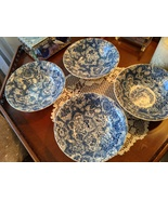 Enoch Wedgwood & Co. Gainsborough Blue Soup/Cereal Bowls 6, England 1956 - $60.00
