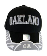 Oakland Men's Stars & Stripes Adjustable Baseball Cap (Black/Gray) - $11.95