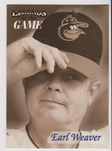 1998 Fleer / SI Legends Earl Weaver card, Baltimore Orioles HOF - $0.99
