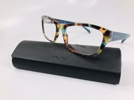 ⭐️ New Prada VPR 18O NAG-1O1 Spotted Blue Havana Eyeglasses 54mm with Case - $146.52