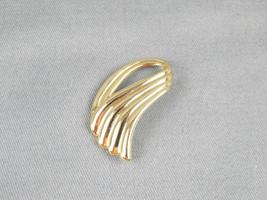 Vintage Piscitelli Gold Tone Swoosh Angel Wing Modernist Slider Scarf Jewelry - $4.95