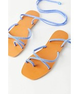 NEW Urban Outfitters UO Jess Rope Wrap Sandals in Blue sz 6 - $23.76