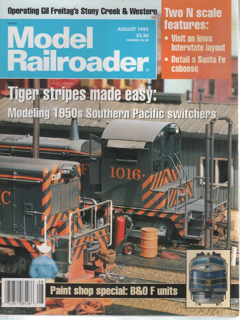 Primary image for Model Railroader Magazine August 1995 Two N Scale Features