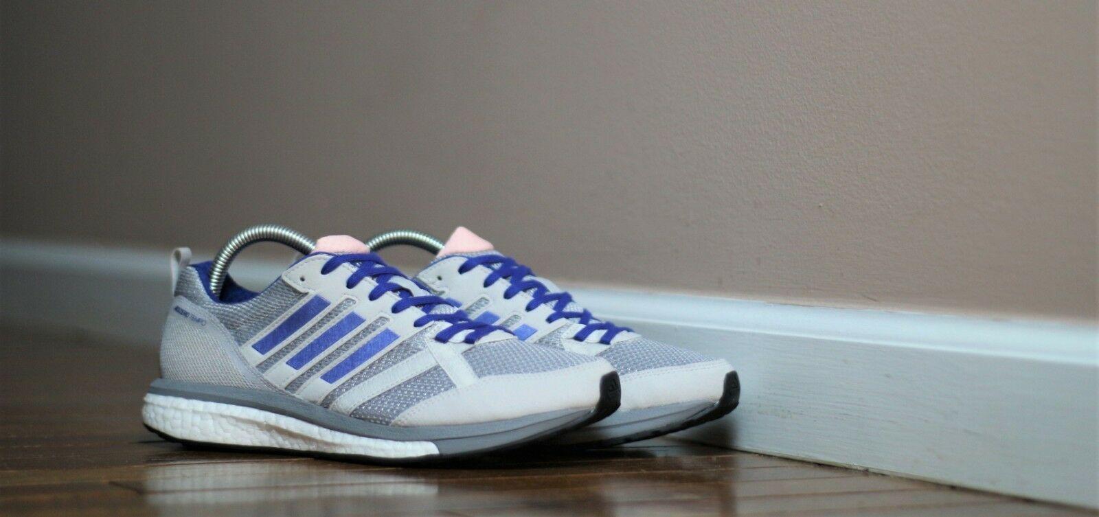 Adidas Women's Size 8.5 Adizero Tempo 9 Running Shoe BB6655 Grey