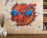 3d cartoon Poqiang Spiderman wall stickers for kids rooms home decor liviing roo