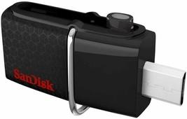 Sandisk Ultra Dual USB Flash Drive, 32 GB, Black (SDDD2-032G-A46) - $9.89