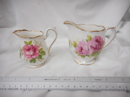 ROYAL ALBERT AMERICAN BEAUTY CREAMER Sm and Large 2 PIECES - $31.19