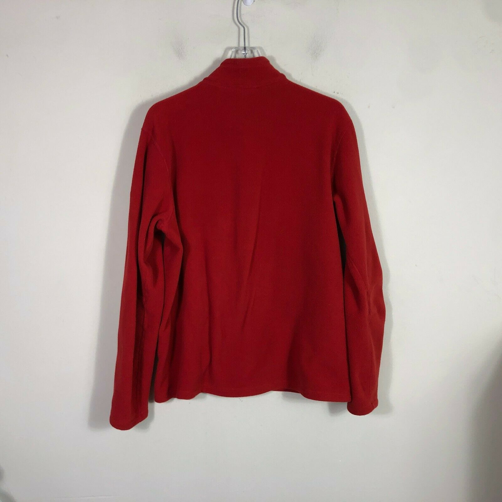 Eddie Bauer First Ascent Fleece Jacket Large Red Long Sleeve Pull Over 1/2 Zip image 9