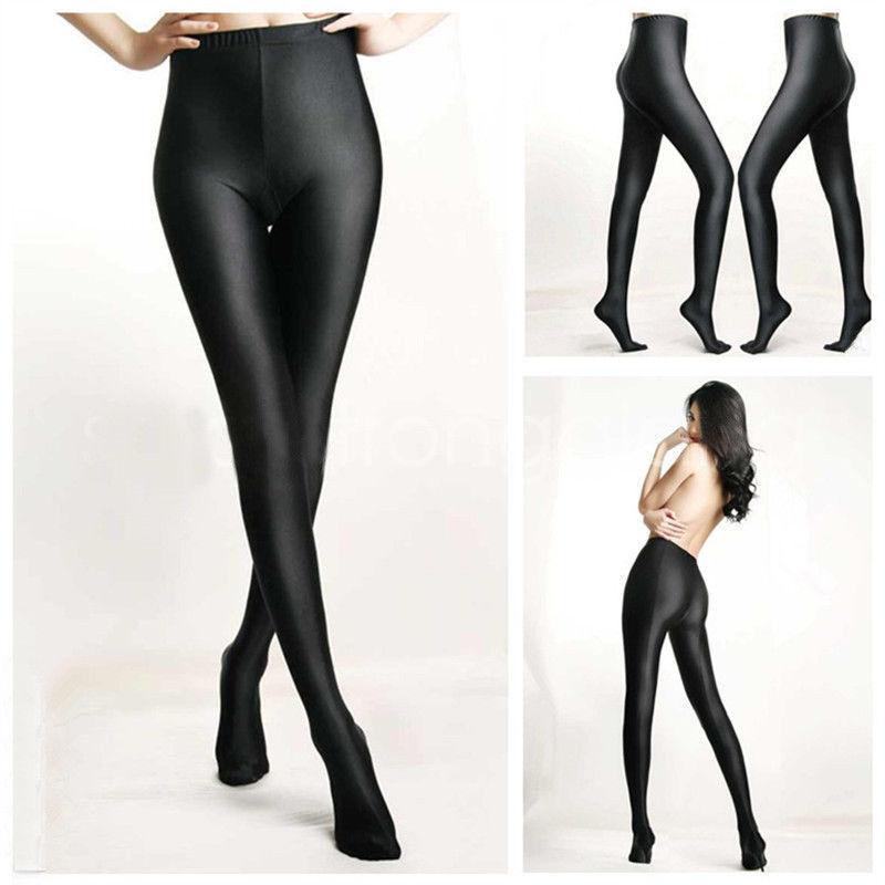 70D Girl Women High Waist Oil Shine Glossy Shape Body Pantyhose Stockings Tights
