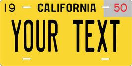 California 1950 License Plate Personalized Custom Car Auto Bike Motorcyc... - $10.99+