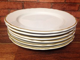 Vintage Lot Of 6 Homer Laughlin Gold Rimmed Plates - $24.95