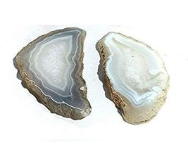 Natural Sliced Agate Coaster 2 pieces Set 3 inch approx size Slice  - $12.99