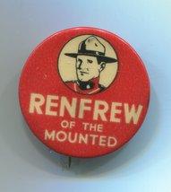 Vintage 1936 Renfrew of the Mounted Wonder Bread Premium Pin RCMP Mounties - $8.99