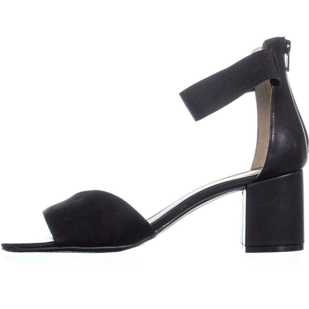 White Mountain Evie Criss Crossed Ankle Strap Sandals 736, Black, 10 US image 4