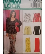 Tops & Skirts Sewing Pattern Misses Sizes 8-18 New Look 6042 UNCUT - $5.99