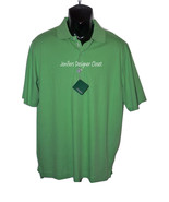 NWT BOBBY JONES Golf polo golf shirt M golfer placket soft cotton green - $46.56