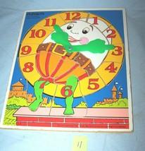 1981 Time Teacher Wooden Playskool  Puzzle 178-Lot 11 - $18.50