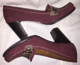 Naturalizer Leather Suede Shoes Burgundy Red Size 7.5 - $49.99