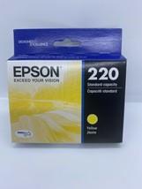 NEW Epson 220 Yellow T220420 Ink Cartridge Genuine Expiration 08/2022 New SEALED - $6.92