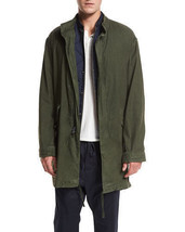 Vince M37614494 Men Olive Green Linen Canvas Utility Parka Jacket Coat L $545 - $119.99