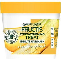 Garnier Fructis Strengthening Treat 1 Minute Hair Mask with Banana Extra... - $4.63