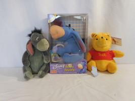 Baby's First Eeyore Disney Winnie the Pooh Rattles Stuffed Plush New + W... - $56.02