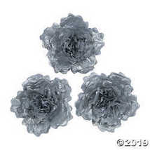 Large Silver Tissue Flower Decorations  - $12.49