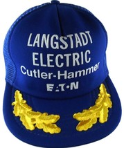 Langstadt Electric Supply Co Appleton WI Snapback Trucker Hat Cap NOS 19... - $9.89