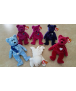 Ty Beanie Babies Bear Lot & Lamb All with Ty Tags Lot - $49.99