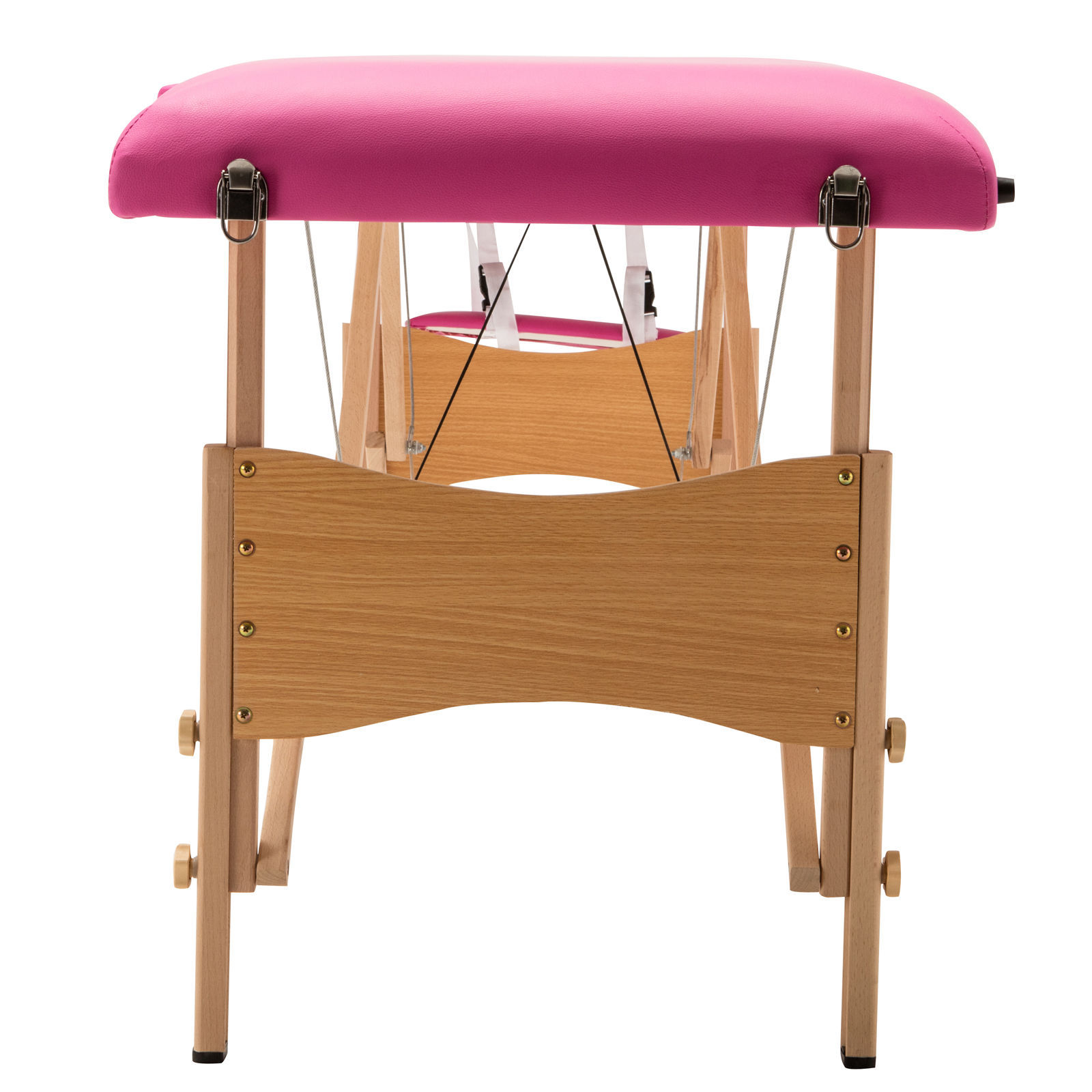 "Pink 84""L Portable Fold Massage Table Facial SPA Beauty Bed Tattoo With Case"