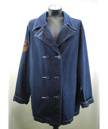 Route 66 Dark Blue Denim Double Breasted Jacket - Women's Size XL - $37.95
