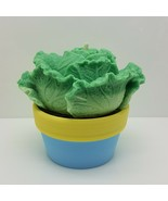 egbhouse, Handmade nature Lettuce Candle with colorful earth pot candle ... - $26.72